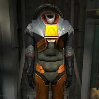 The Mark V HEV suit as seen in Half-Life 2.