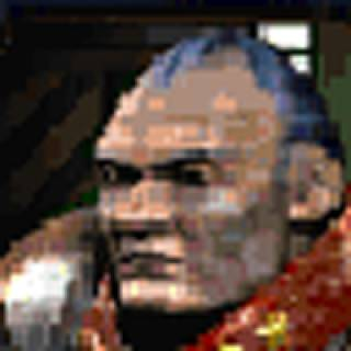 E. Duke in his pixelated glory.