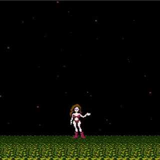 One of the endings from the original Metroid.