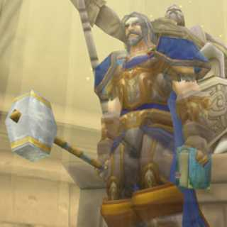 Uther from World of Warcraft.