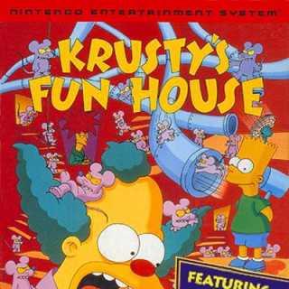 Krusty's Fun House Box Art (NES)