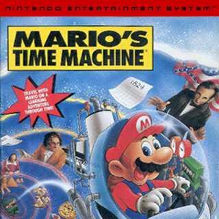 Mario's Time Machine Box Art (NES)