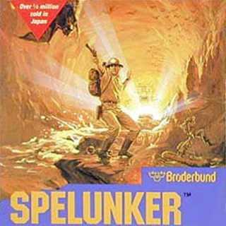 Spelunker Box Art (NES)