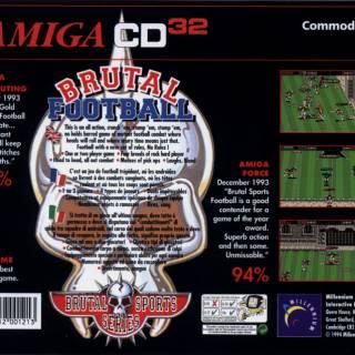 Brutal Sports Football Box Art - Back (Amiga CD32)