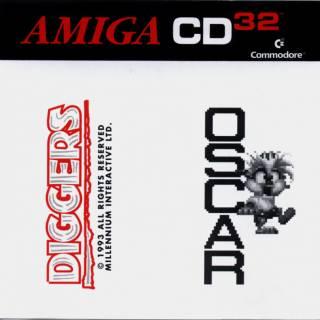 Diggers & Oscar Box Art - Front (Amiga CD32)