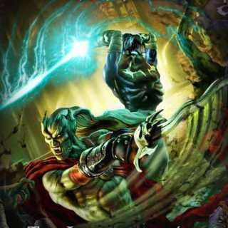 Kain and Raziel locked in battle