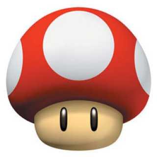 toadstool mushroom from super mario bros.