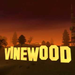 Vinewood, spoof of the Hollywood Sign in Grand Theft Auto: San Andreas.