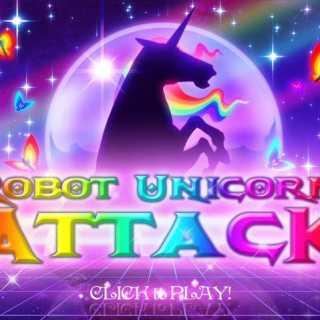 Robot Unicorn Attack's title screen