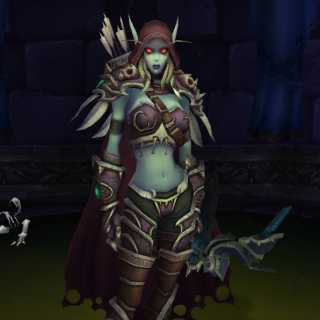Sylvanas's in-game model as of Wrath of the Lich King.