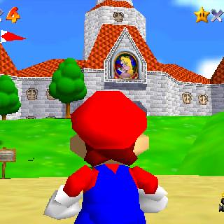 Mario; Peach's Castle - Super Mario 64