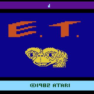 Title screen for Atari 2600 E.T.