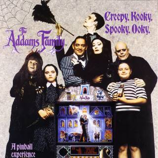 Addams Family Pinball flyer