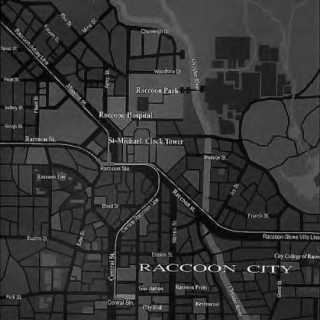 A realistic city map of Raccoon City