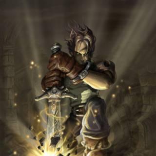 Concept art of Hero of Oakvale (Fable;TLC)