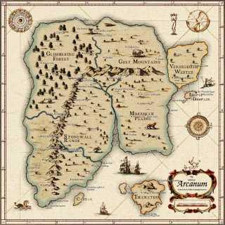 Map of Arcanum (Mild Spoilers)