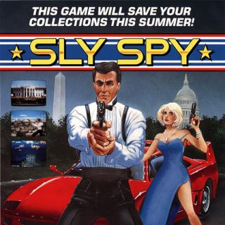 Sly Spy arcade flyer