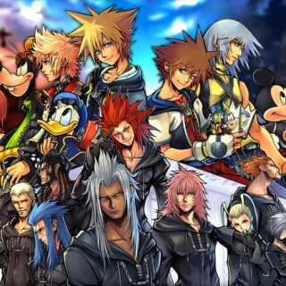 Characters from the first 2 kingdom hearts games and Chain of Memories