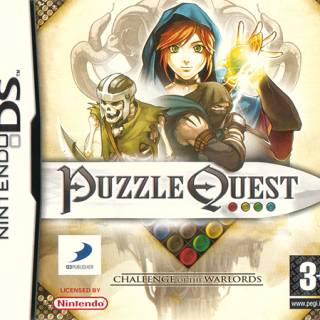 Puzzle Quest Challenge of the Warlords UK Box Art