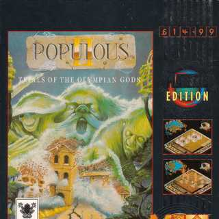 Populous II: Trials of the Olympian Gods (Hit Squad) EU Box Art
