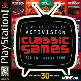 Front cover of A Collection of Activision Classic Games for the Atari 2600 (US) for PlayStation