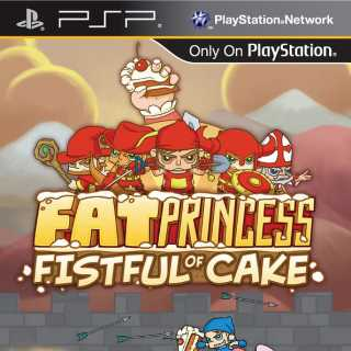 Front cover of Fat Princess: Fistful of Cake (US) for PSP