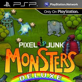 Front cover of PixelJunk Monsters Deluxe (US) for PSP