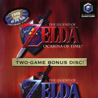 Front cover of The Legend of Zelda: Ocarina of Time / Master Quest (US) for GameCube