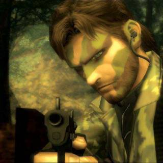 A screenshot of Naked Snake from a cutscene of Metal Gear Solid 3: Snake Eater