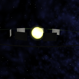 Approaching a ringworld from another solar system. This trip took 3 real time hours.