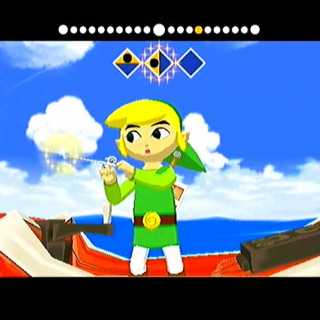 Link playing the Wind Waker