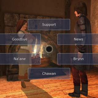 Selecting dialogue in Dreamfall.