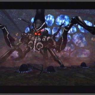 The Metroid Prime in its original, Armored form.
