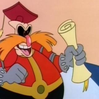Robotnik as he looked like in Adventures of Sonic the Hedgehog.