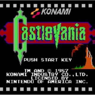 nes castlevania start screen
