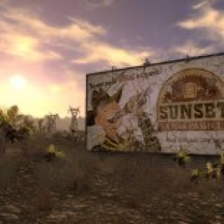 A Sunset Sarsparilla billboard