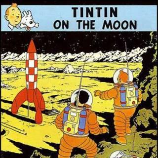 Tintin on the Moon