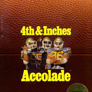 4th & Inches Amiga Cover (Front)