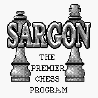 Sargon Chess splash screen.