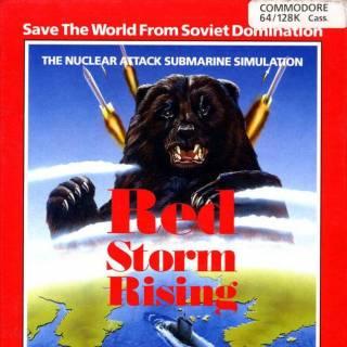 Red Storm Rising C64 box art
