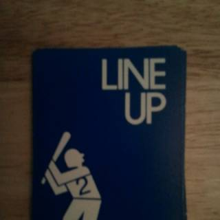Front of the blue team's Line Up cards