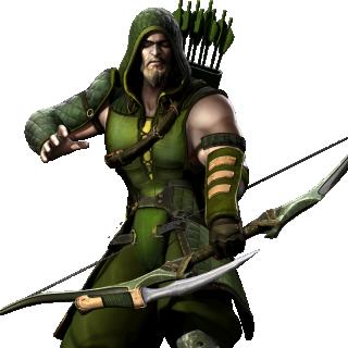 Green Arrow Injustice Render