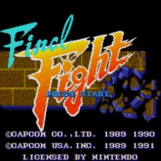 snes final fight start screen