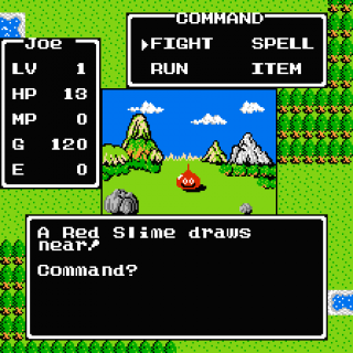 A Red Slime draws near! Command?
