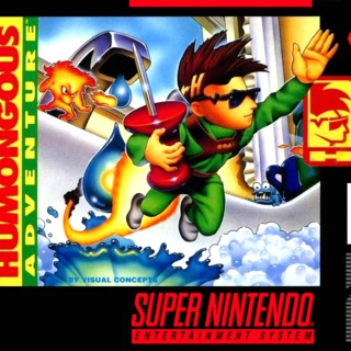 Harley's Humongous Adventure SNES Front Cover