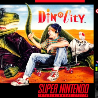 DinoCity SNES Front Cover