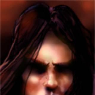 Fan-drawn portrait of Abdel