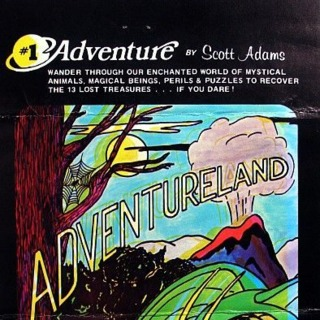 TRS-80 box front (US cassette release by Adventure International)