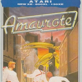 Atari 8-bit box front (UK cassette release by M.A.D.)