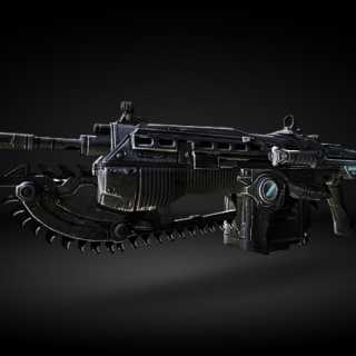 The Lancer rifle in Gears of War 3